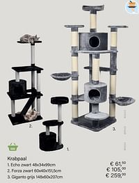 Krabpaal echo zwart-Huismerk - Multi Bazar