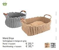 Mand enya rond + kussen-Huismerk - Multi Bazar