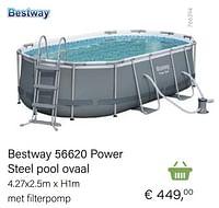 Bestway 56620 power steel pool ovaal-BestWay