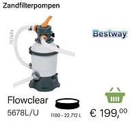 Bestway zandfilterpompen flowclear 5678l-u-BestWay