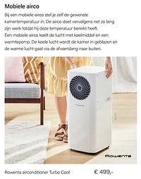 Rowenta airconditioner turbo cool-Rowenta
