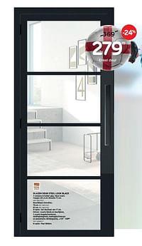 Glazen deur steel look black-Thys