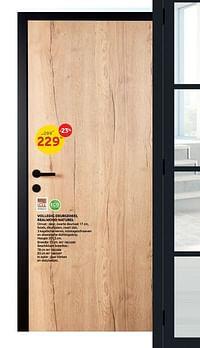Volledig deurgeheel realwood naturel-Group Thys