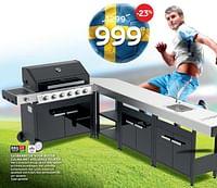 Gasbarbecue voor buiten culina met volledige keuken-BBQ & Friends