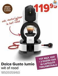 Krups dolce gusto lumio wit of rood-Krups