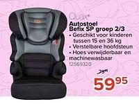 Autostoel befix sp groep 2-3-Quax