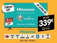 Hisense 4k ultra hd 43a7100f-Hisense