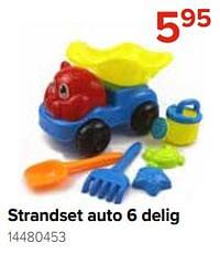 Strandset auto 6 delig-Huismerk - Euroshop