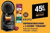 Krups espressomachine + 3 dozen origins yy4649fd-Krups