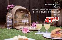 Picknick rugzak-Huismerk - Euroshop