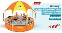 Splash in shade play pool met zonnescherm zonder filterpomp-BestWay