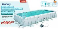 Power steel rechthoekig zwembad-BestWay