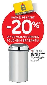 Vuilnisbak touchbin-Brabantia