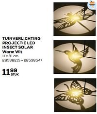 Tuinverlichting projectie led insect solar warm wit-LUMINEO