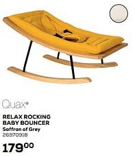 Relax rocking baby bouncer saffran of grey-Quax