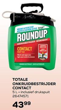 Totale onkruidbestrijder contact-Roundup