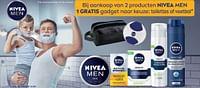 Bij aankoop van 2 producten nivea men 1 gratis gadget naar keuze: toilettas of voetbal-Nivea