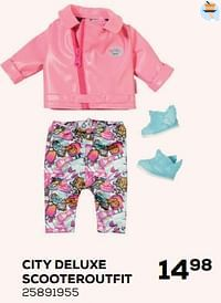 City deluxe scooteroutfit-Baby Born