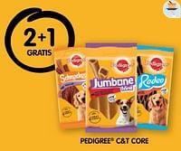 2+1 gratis pedigree c+t core-Pedigree