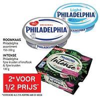 Roomkaas philadelphia + intense philadelphia 2e voor 1-2 prijs-Philadelphia