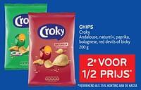 Chips croky 2e voor 1-2 prijs-Croky
