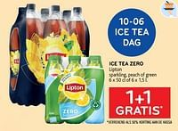 Ice tea zero lipton 1+1 gratis-Lipton