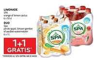 Limonade spa + duo spa 1+1 gratis-Spa
