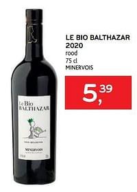 Le bio balthazar 2020 rood-Rode wijnen