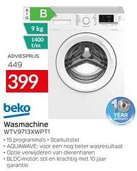 Beko wasmachine wtv9713xwpt1-Beko