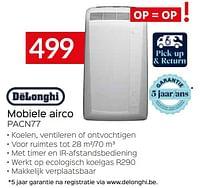 Delonghi mobiele airco pacn77-Delonghi