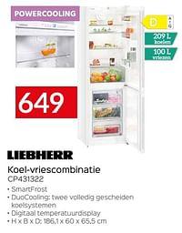 Liebherr koel-vriescombinatie cp431322-Liebherr
