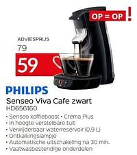Philips senseo viva cafe zwart hd656160-Philips