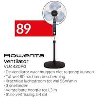 Rowenta ventilator vu4420f0-Rowenta