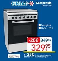 Friac gasfornuis gfma7000-Friac
