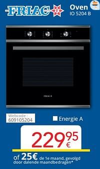 Friac oven io 5204 b-Friac