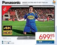 Panasonic smart ultra hd-tv 65`` tx65fx560e-Panasonic