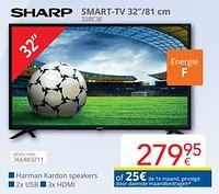 Sharp smart-tv 32`` 32bc3e-Sharp