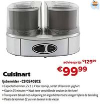 Cuisinart ijsbereider - csice40bce-Cuisinart