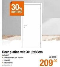 Deur platina wit-Huismerk - Cevo