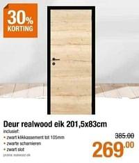Deur realwood eik-Huismerk - Cevo