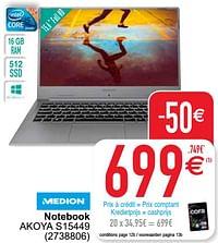 Medion notebook akoya s15449-Medion