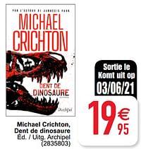 Michael crichton dent de dinosaure-Huismerk - Cora