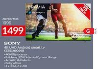 Sony 4k uhd android smart tv ke75xh9096b-Sony