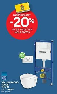 Hangend toilet thore-Geberit