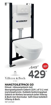 Hangtoiletpack go-Villeroy & boch