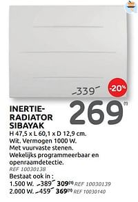 Inertieradiator sibayak-Sauter