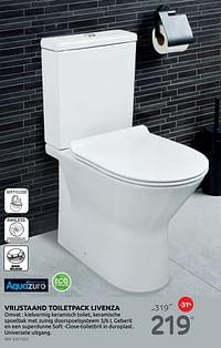 Vrijstaand toiletpack livenza-Aquazuro