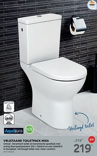 Vrijstaand toiletpack misa-Aquazuro