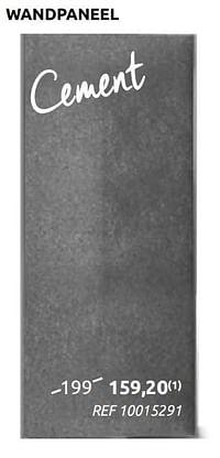 Wandpaneel cement-Huismerk - BricoPlanit