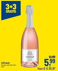 Ca`ernesto prosecco extra dry rosé-Schuimwijnen